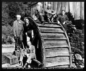 Edison, Firestone Jr., Deloach, Burroughs, Ford & Firestone at Evans Mill, Bolar Springs 1918
